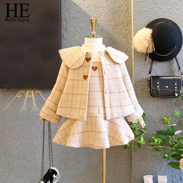873344788 HE Hello Enjoy Kids Clothes Winter Children Sets Long Sleeve Woolen ...
