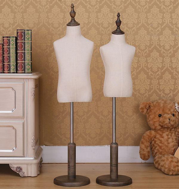 Luxury Fashionable Child Mannequin Maniqui Half Body Torso Baby Adjustable Fabric Mannequin Dress Forms Dressmaker Mannequin