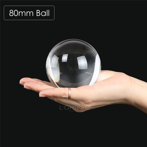 Image 3 - 50/60/70/80/90/100/110mm Photography Crystal Lens Ball Asian Quartz Clear Magic Glass Ball w/ Portable Bag for Photo Shooting