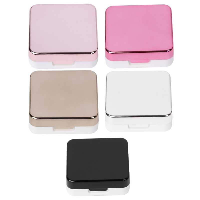 Set Of Lens Box Fashion Portable Travel Contact Storage Mirror Containers Holder