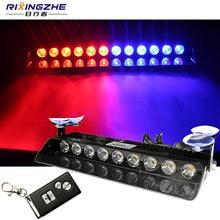 RXZ – lumière de Police avec télécommande, stroboscope 9 12 LED, lumière d'avertissement, voiture camion, urgence, jour de fonctionnement, Led
