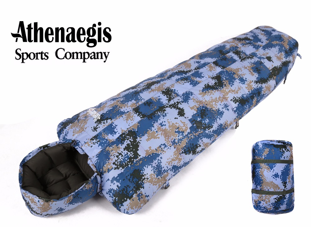 Athenaegis camouflage white duck down 800g/1000g/1200g filling adult breathable waterproof sleeping bag стоимость