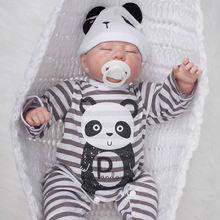 Alive Sleeping Newborn Babies Silicone Lifelike Reborn Boy Doll Baby 20 Inch 50 cm Cloth Body Dolls Toy Kids Birthday Xmas Gift