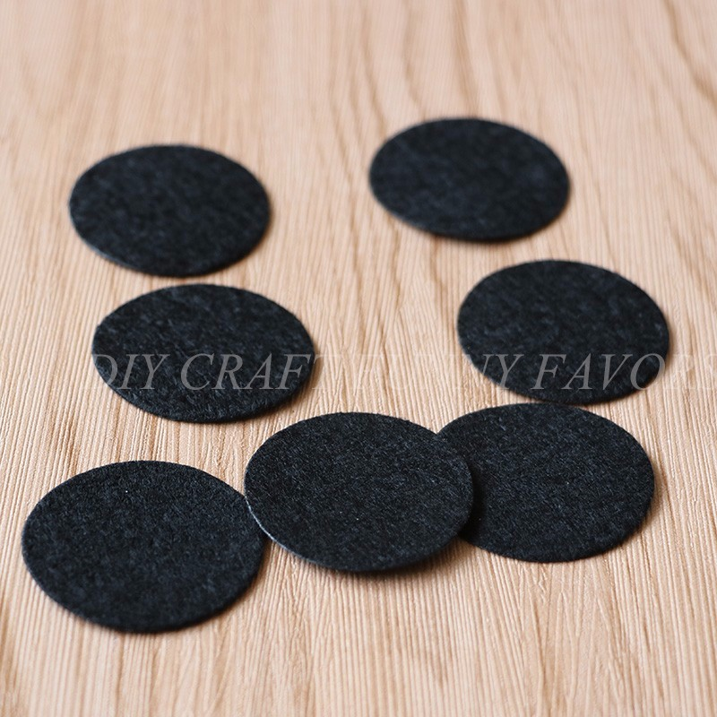 1000PCS 3.5CM Black Color felt Circle pads round Patches flower bottom diy craft accessory