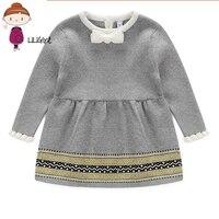 Fashion Autumn Winter Dress Newborn Baby Girls Sweater Princess Infant Knit Gress Kids Little Girl Princess