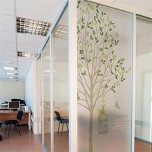 Window film Static glass bathroom scrub stickers sun screen window fenetre  Green tree on the