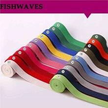 Fishwaves 20/25/32/38/50mm 5 jardas/lote colorido lona algodão fita cinta saco webbing mochila cinto pet corda diy costura artesanato
