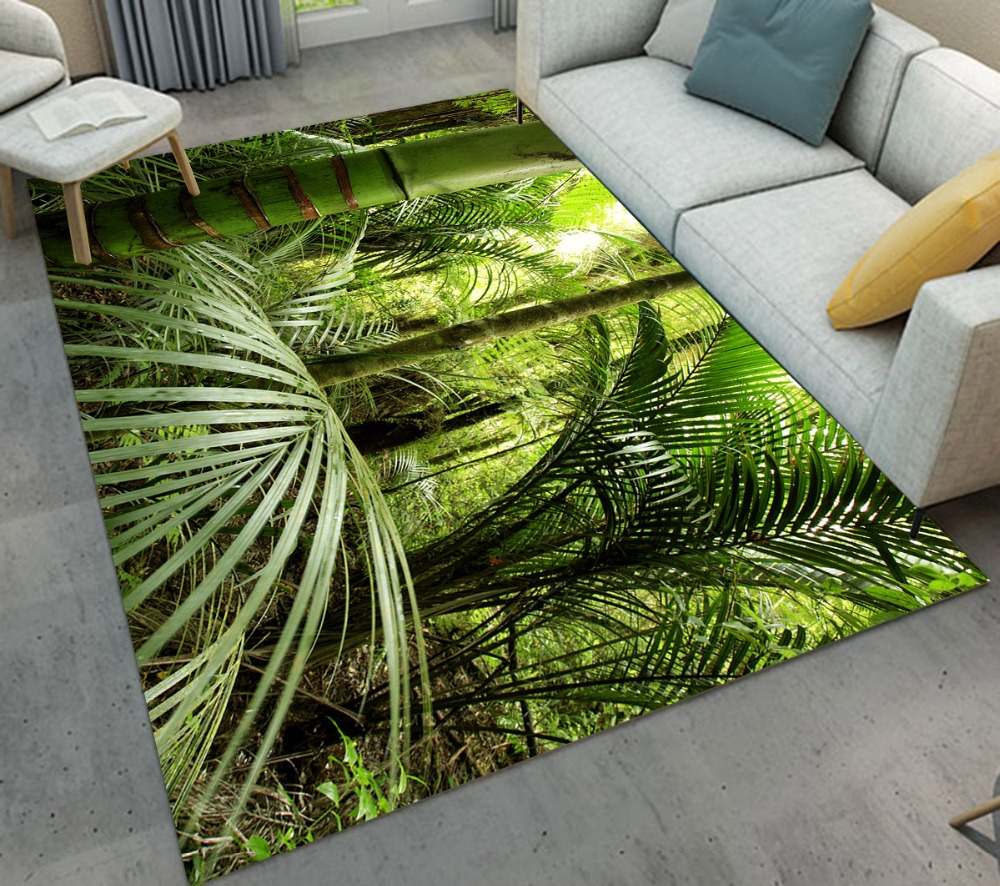 Luxuriant Tropical Jungle Leaves Indoor Home Living Room