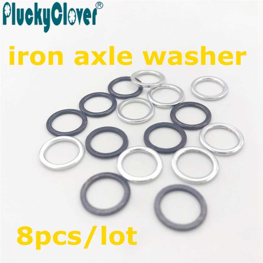 8pcs Axle Washer 8x11x1mm Scooter Roller Skate Truck Kingpin Washer Axis Sleeve Handle Longboard wheel Fishboard pivot washer