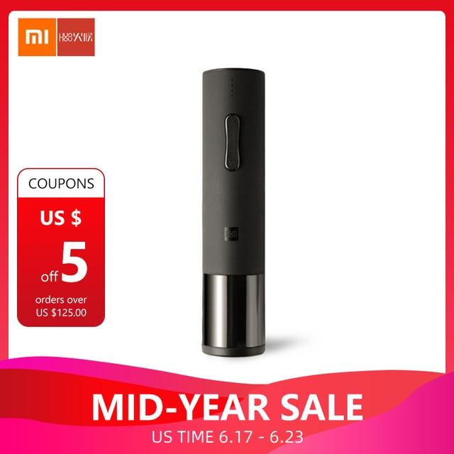 Xiaomi Mijia Huohou automático botella de vino tinto sacacorchos eléctrico 6 s abridor hoja cortador herramienta para el hogar inteligente Xiaomi kits