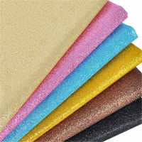 20*30cm Glitter Fabric Faux Synthetic Leather Fabric 20 Colors Faux Pu Leather Sheets A4 For Hair bow Diy Craft Accessories