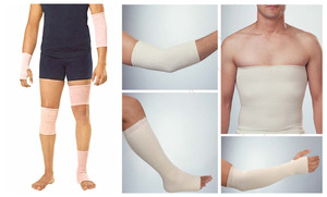 Image 4 - Rohr elastic bandage medizinische polymer gips socke hilfs kompression verband baumwolle gliedmaßen socken bein vene bandagen