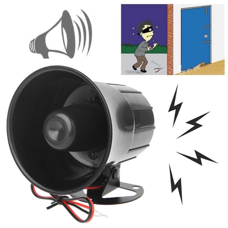 цена на DC 12V Wired Loud Alarm Siren Horn Outdoor For Home Security Protection System
