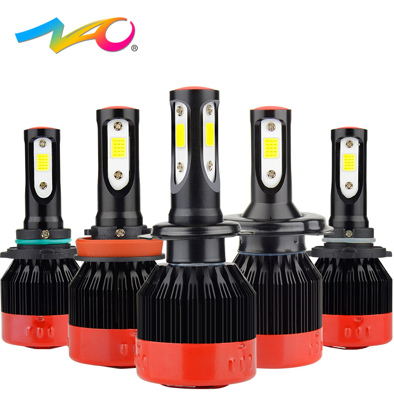 NAO H4 led h7 led bulb H1 led lamp automobiles h11 12V car light hb4 9006 hb3 9005 h9 h8 9012 hir2 auto H7 headlights 72W 8400LM