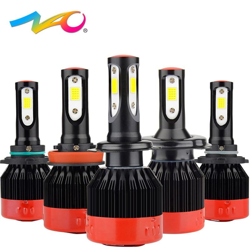 NAO H4 led h7 led bulb H1 led lamp automobiles h11 12V car light hb4 9006 hb3 9005 h9 h8 9012 hir2 auto H7 headlights 72W 8400LM h4 h7 led bulb 100w white super bright 14600lm auto headlights h4 h8 h9 h11 9005 hb3 9006 hb4 car led light 12v automobiles