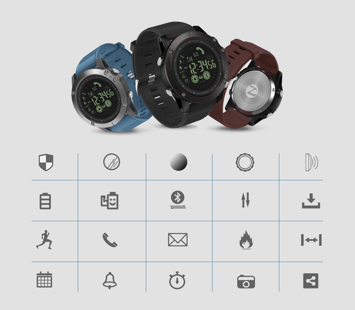 Rugged Smartwatch 24h Time 4