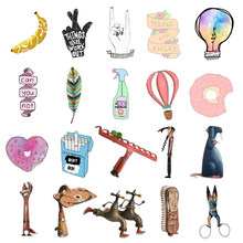 1 PC Lovely Pin Badge Tools Hands Feather Shaped Cartoon Icons on Backpack Icon Badges for Clothes Acrylic Badges(China)