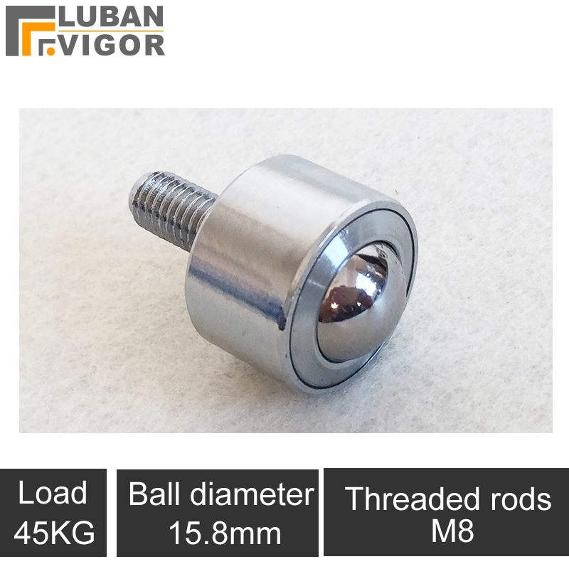 Precision straight universal ball / casters/wheel,KSM15-FL Universal ball bearing/M8 screw cylinder,360degree,Cattle eye roundPrecision straight universal ball / casters/wheel,KSM15-FL Universal ball bearing/M8 screw cylinder,360degree,Cattle eye round