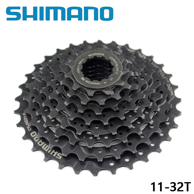 <font><b>SHIMANO</b></font> CS-<font><b>HG31</b></font>-<font><b>8</b></font> MTB Mountain Bike 8S Cassette Freewheel <font><b>8</b></font> Speeds Flywheel 11-32T Crankset Bicycle Parts 8s/24s Flywheel image