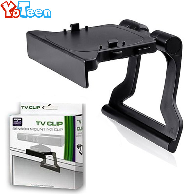 Bracket for Xbox 360 Kinect Sensor TV Mounting Clip for Microsoft Xbox360 Kinect Sensor Adjustable Mount Mounting Stand Holder цена