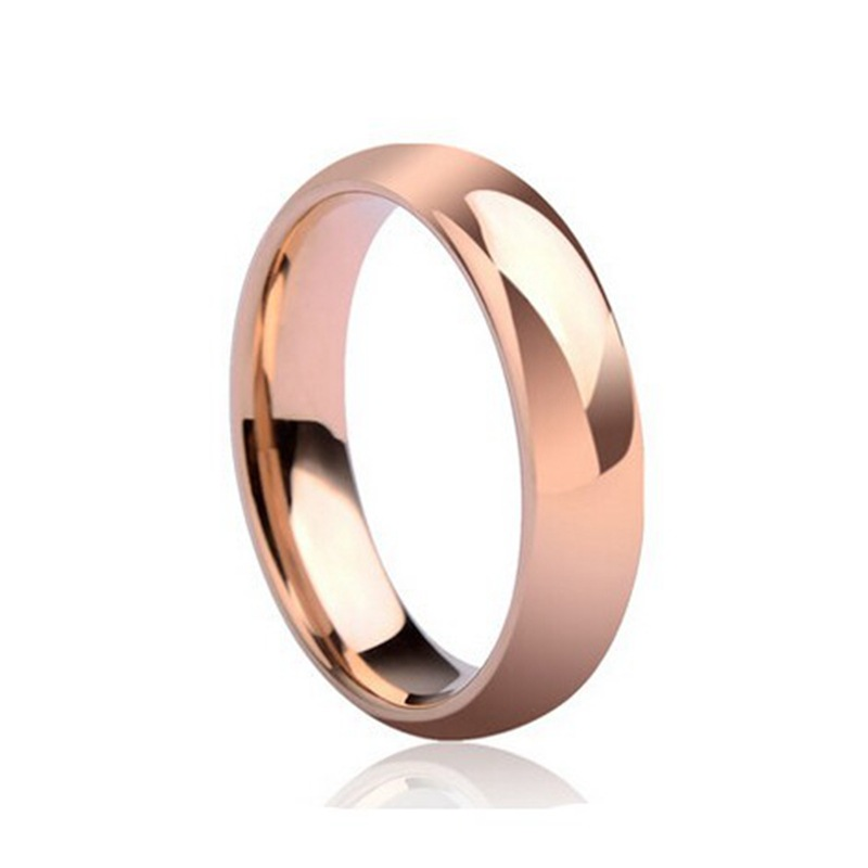 OMHXZJ Wholesale European Fashion Woman Man Party Wedding Gift Simple 925 Sterling Silver 18KT Rose Gold Yellow Gold Ring RR389 in Rings from Jewelry Accessories