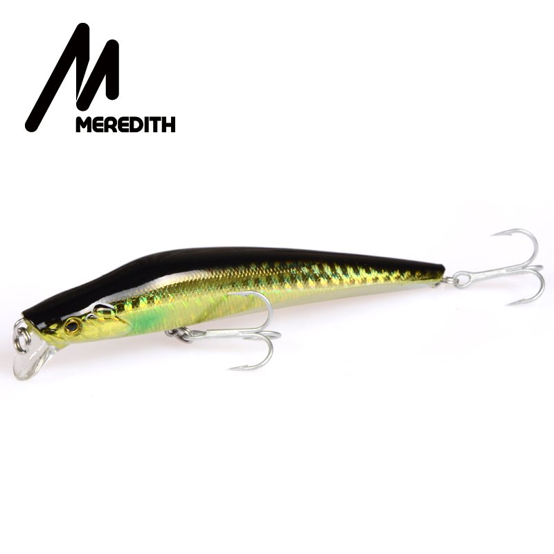 Meredith Señuelos de pesca 1 unids 9.2 g 100 mm Minnow flotante duro - Pescando - foto 3