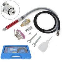 16pcs High Speed Air Micro Die Grinder Kits Mini Pencil Polishing Engraving Tool Grinding Cutting Pneumatic