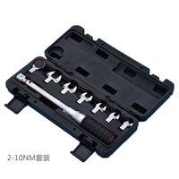 Тайвань Промышленного Класса предустановленный динамометрический ключ набор 2 10NM 1/4 трещотка крутящий момент гаечный ключ открытого соста