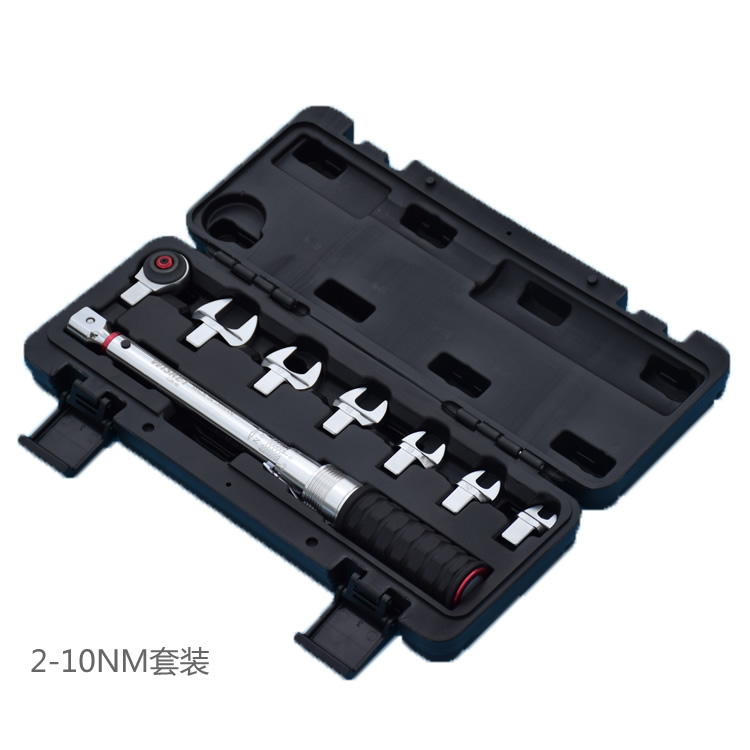Taiwan industrial-grade preset torque wrench set 2-10NM 1/4 ratchet torque spanner open ended insert tools More specifications atomic force into a professional level tool wrench spanner more specifications