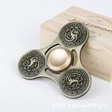 Dragon Fidget Toys Metal Hand Spinner Adult Finger Anti stress Fidget Spinner With Box For Children