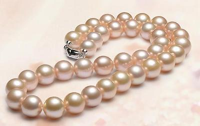 new 189-10mm natural sea pink pearl necklace new 189-10mm natural sea pink pearl necklace