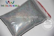 TCA100 0.05mm 002 Laser a Colori Argento Polvere Glitter per unghie, nave Libera del Commercio Allingrosso della decorazione di arte del tatuaggio della polvere FAI DA TE