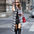 Hot Faux Fur Sleeveless Jacket 2016 Winter Thicken Women Long Faux Fur Vest Luxury Fake Fur Coats Fourrure Gilet abrigos de piel