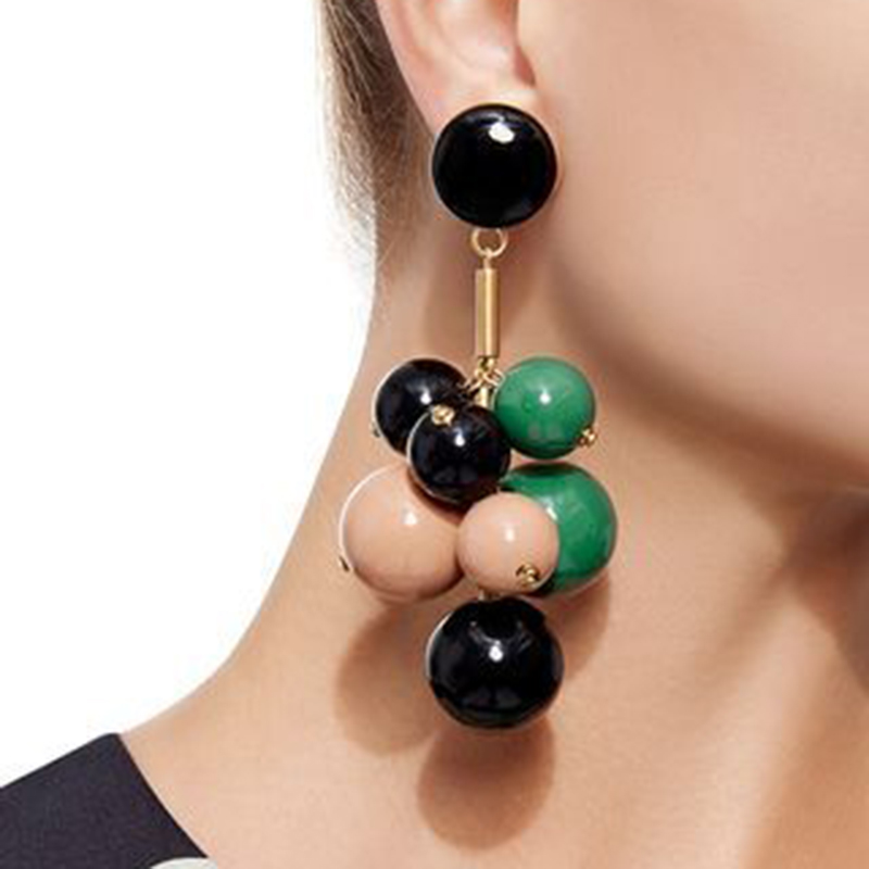 Dvacaman Tassel-Earrings Beads Party-Jewelry Handmade Colorful Bohemian Dangle Female