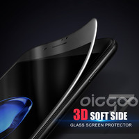 Oicgoo 3D Curved Edge Tempered Glass For iPhone 7 6 6s 7 Plus Full Cover For iphone 6 6S Plus Screen Protector Film Safety Case