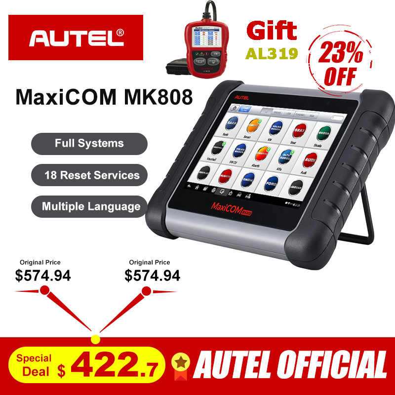 Autel MaxiCOM MK808 OBD2 Scanner Professional Diagnostic Scan Tool OBD 2 Code Reader ODB2 Key Coding Immobilizer MX808 MD802