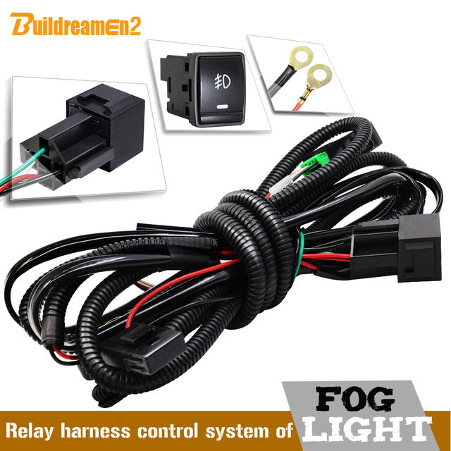Buildreamen2 Car Styling Fog Light H11 Wiring Harness Wire Cable + Switch with LED indicator AT Relay Fuse For Nissan Infiniti