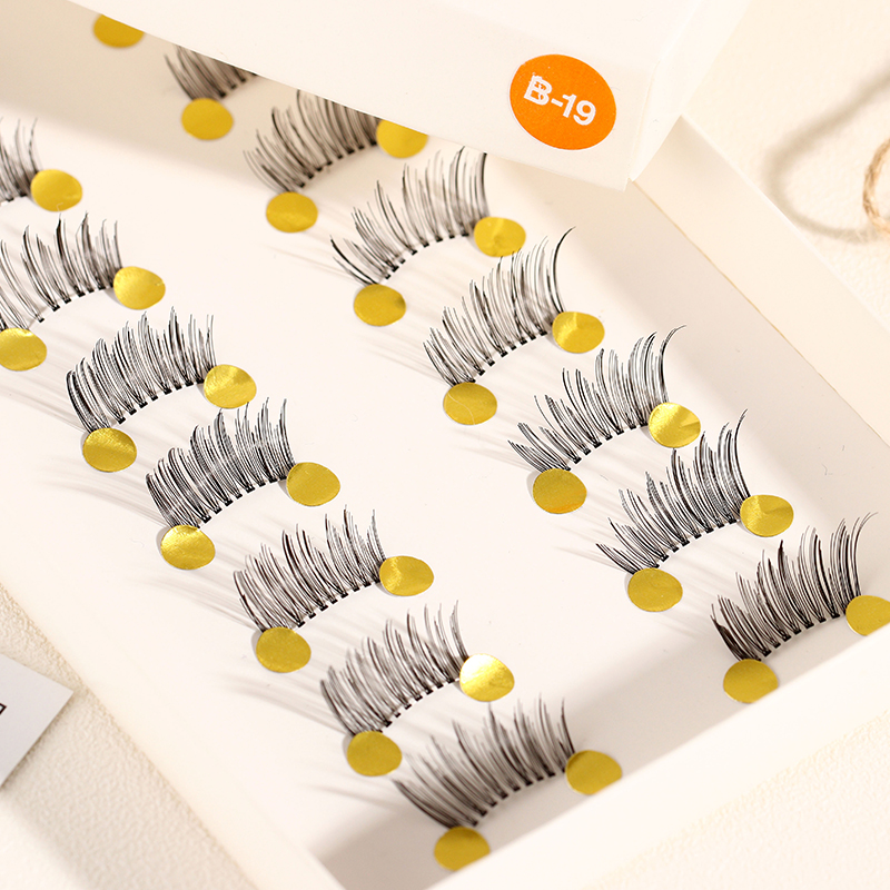ICYCHEER 10 Pairs Beauty Makeup Mini Half Corner Black False Eyelashes Natural Fake Eye Lashes Makeup Tools