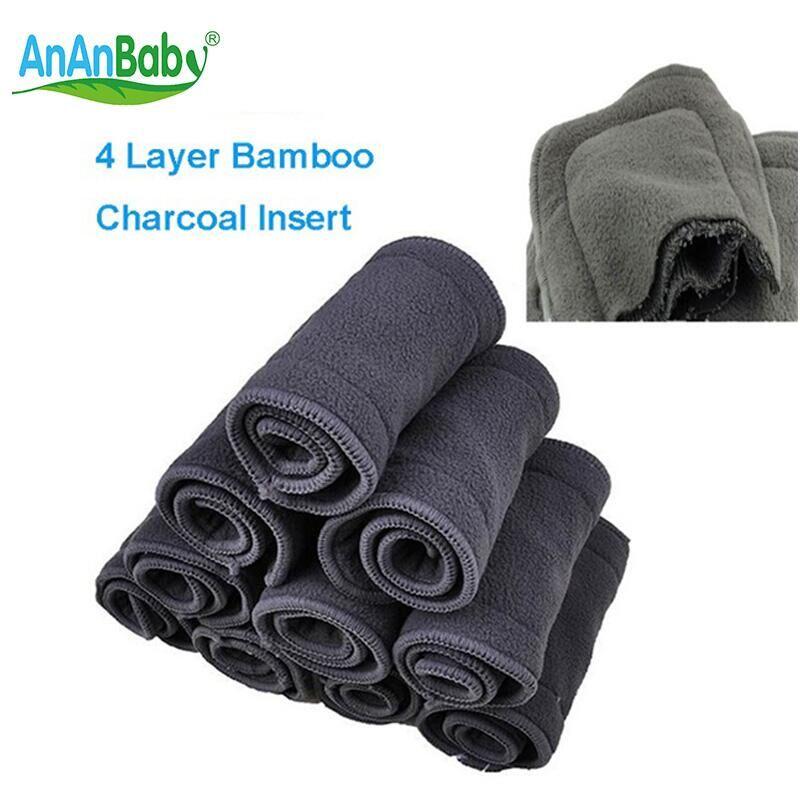 Ananbaby 5 stücke super saugfähigen bambuskohle baby tuch windeln fügt windel liner wechselkissen atmungsaktiv windel ha025