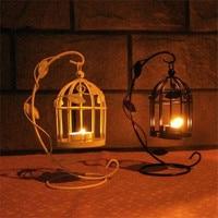Decorazioni di natale per la Casa Bird Cage Hollow Ferro Supporto di Candela Romantica Europea luci Partito Puntelli Candela Lanterna