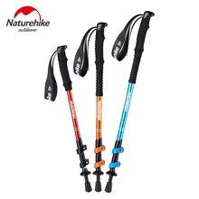 Naturehike Ultralight Trekking Folding Pole Aluminum alloy Alpenstocks Walking Hiking sticks camping family Alpenstocks men boy