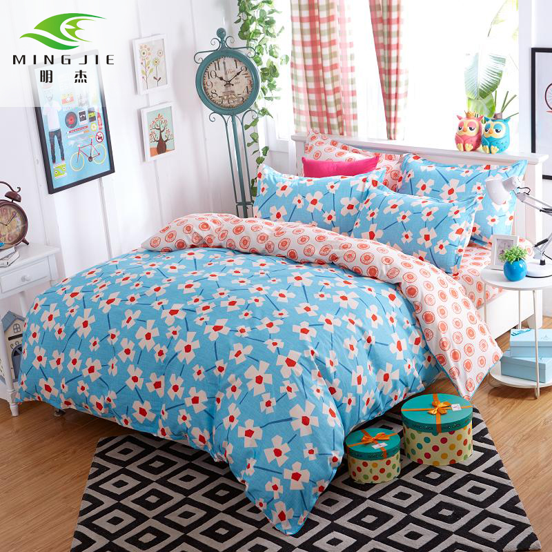 Impressionist Reactive Print Bedding Sets Double Sided