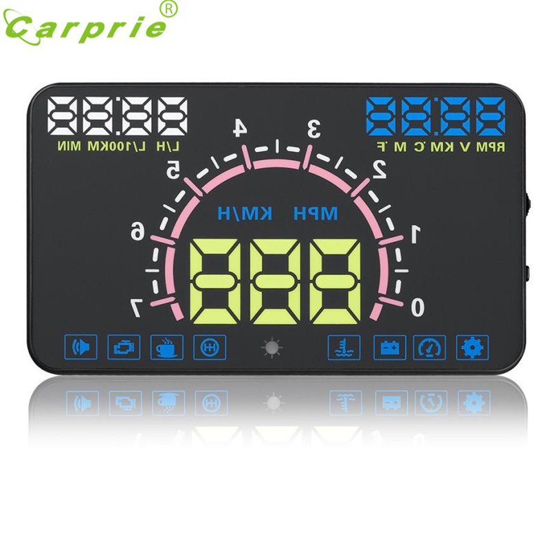 5 8Inches Screen E350 HUD Head Up Display Car Speeding Warning Windshield Projector System For Cars