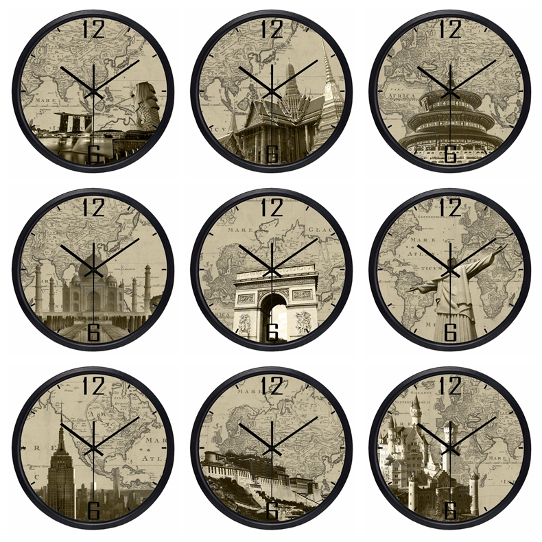 Eiffel Holland Lobby Wall Clock Home Clock