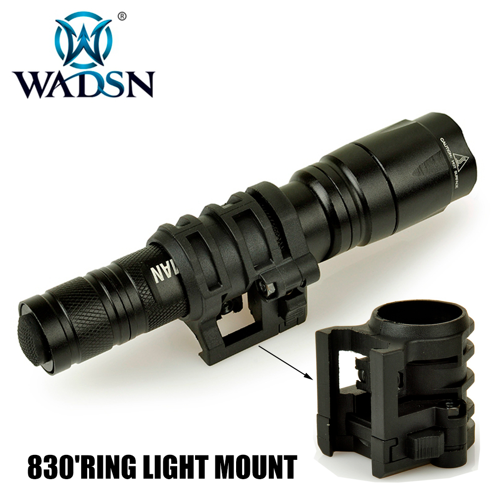 WADSN 830' Ring Flashlight Mount For Tactical Weapon Light Airsoft Rifle Scout Light Base WNE08034 Paintball Hunting Accessories|Weapon Lights| |  - title=