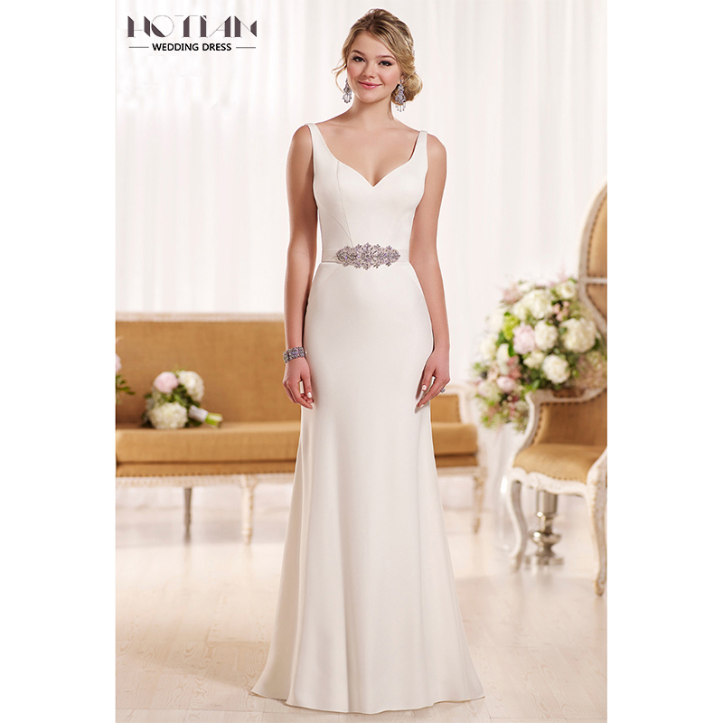 HOTIAN 2017 Fast Delivery Bride Wedding Dresses Sexy Beach Backless ...