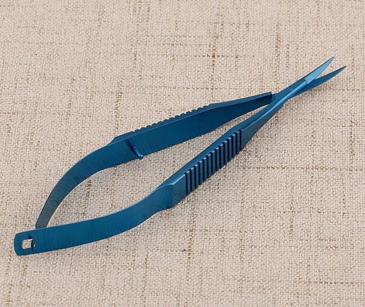 Ножницы из нержавеющей стали офтальмологические кератэктомии открытые микроножницы для глаз прямые наконечники титановые хирургические инструменты 12 см