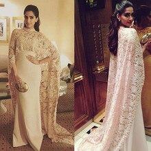 2020 Mother of the Bride Dress With Long Cape Elegant vestido de madrinha festa kurti
