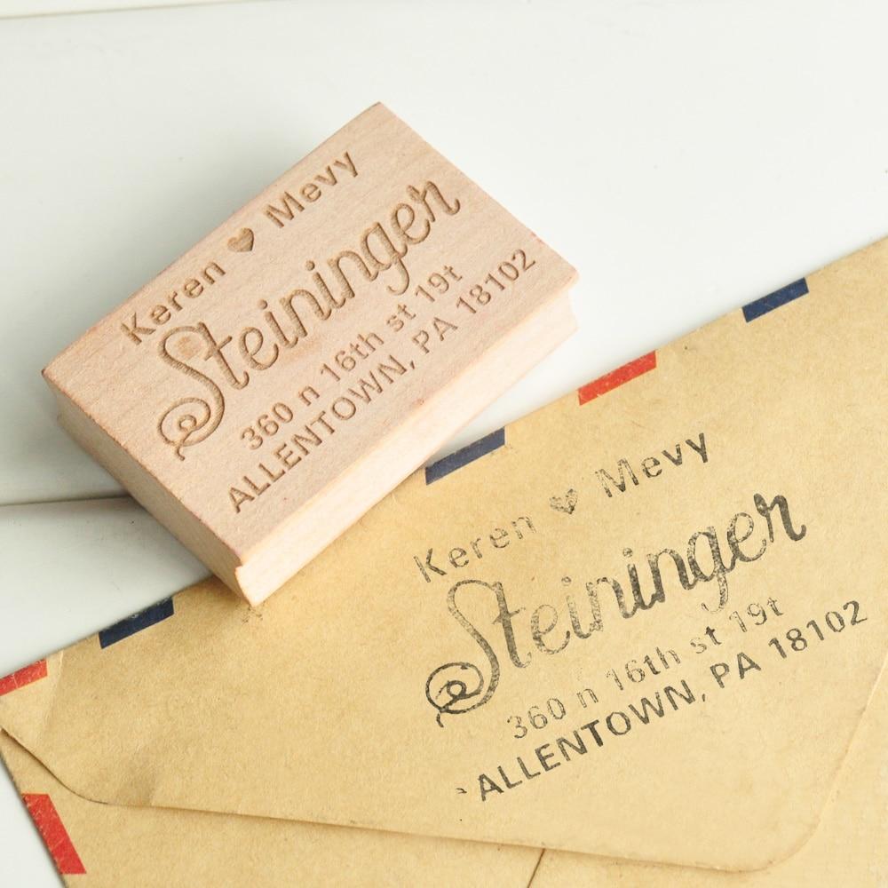 Custom Stamp-Return Address Stamp Brush Calligraphy Wedding Stamp Invitation Stamp