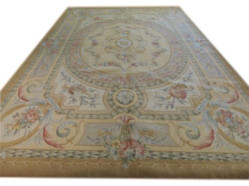 2014 Sale Alfombras Tapete Tapetes Details About 10 X 14 Antique Repro Thick Plush Wool French Savonnerie Rug Made To Order